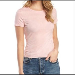 Free People ribbed cropped tee size medium NWT